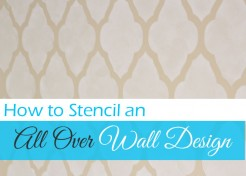 Paint a Design on Your Wall Using a Stencil