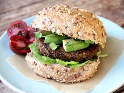 Black Lentil Pumpkin Burger