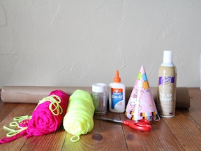 Party Hats Kids Craft - Materials