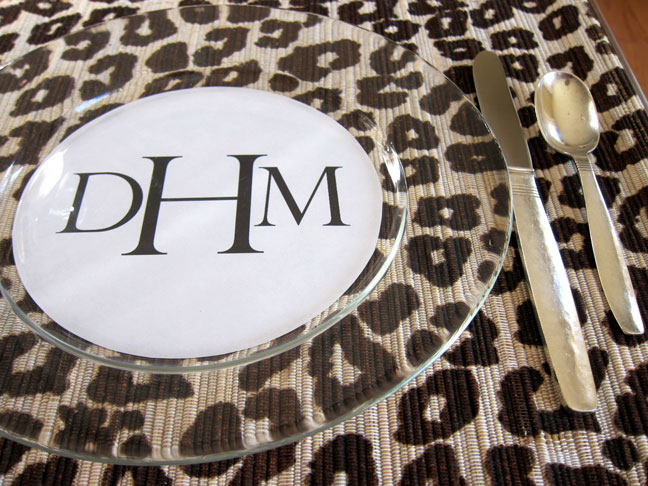 DIY: Dinner Plate Place Cards