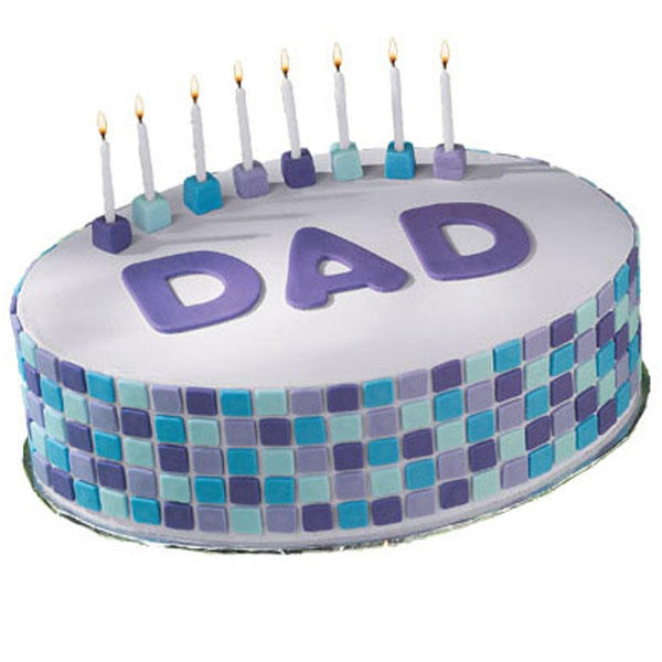 Tile Style Dad Cake
