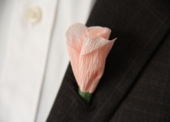 Kids Craft: Paper Flower Boutonnieres