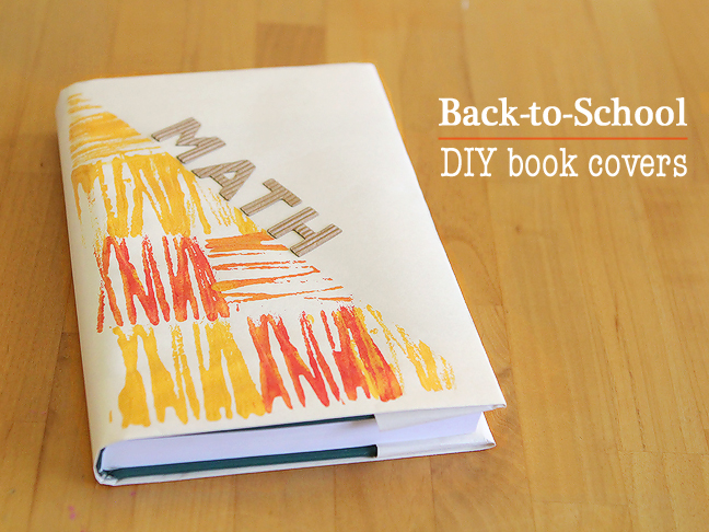 Cool Book Cover Diy : Diy super cool book covers