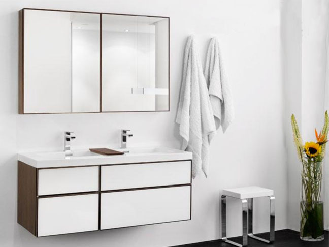 Perfect This sleek mirrored medicine cabinet with its internally recessed hidden outlets is pretty genius stuff And if you do some careful planning with your