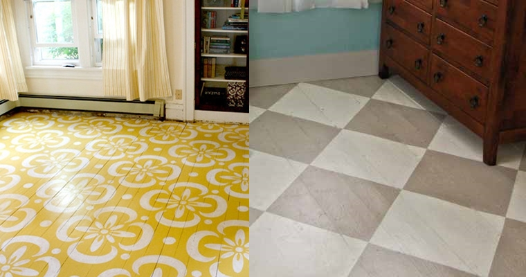 Painted Floors - Home DIYs