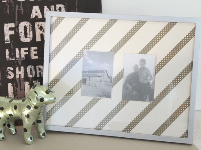 Washi Tape Picture Frame DIY