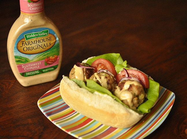 Chipotle Chicken Meatball Sandwich Recipe