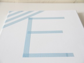 DIY Monogram Art - Step 1