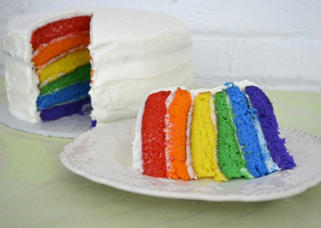 Hidden Rainbow Cake Recipe