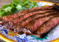 Three Ingredient Sweet Glazed Flank Steak Recipe