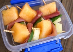 Melon, Ham, and Cheese Kebabs Recipe