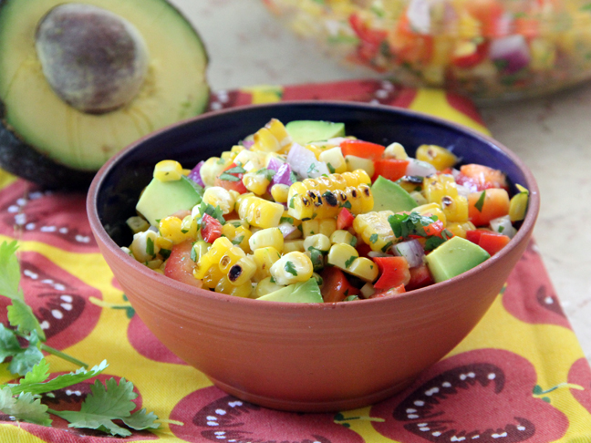 roasted corn guacamole recipe chefdehome com zesty roasted corn ...