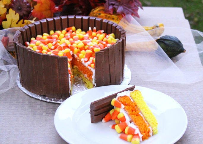 Candy Corn Kit Kat Cake - FINAL 3