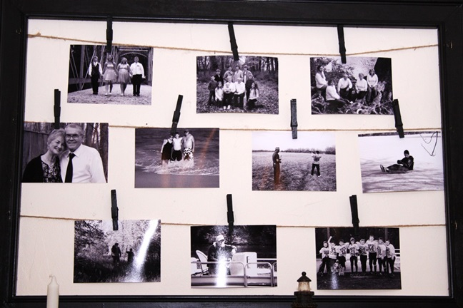 DIY photo frame closeup
