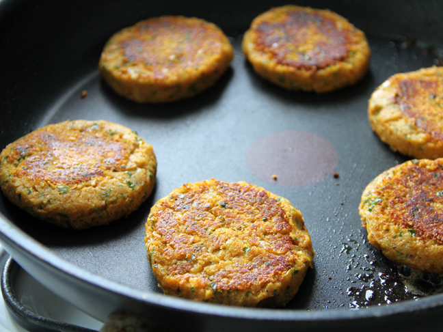 Sweet Potato Chickpea Patties Step 6