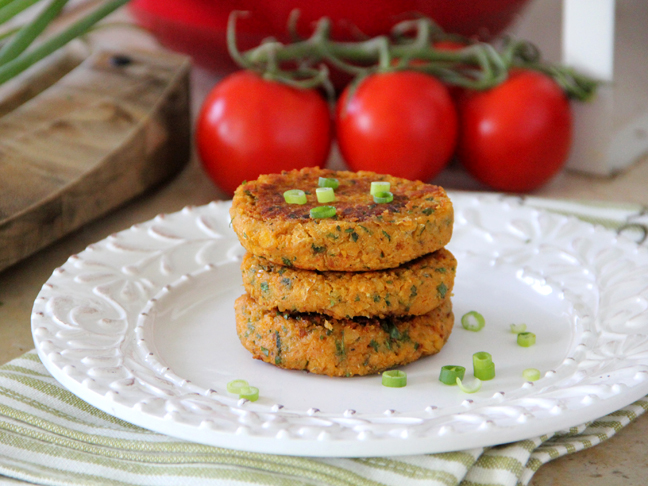 Sweet Potato Chickpea Patties Final Image