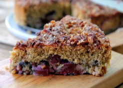 Plum Cake with Pecan Streusel Recipe