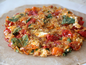 Tomato Basil Galette with Goat Cheese Step 5