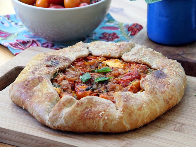 Tomato Basil Galette with Goat Cheese Final