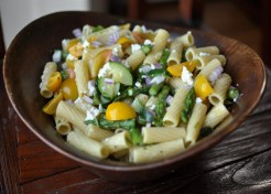 Pasta Salad with Asparagus, Zucchini, and Feta Recipe