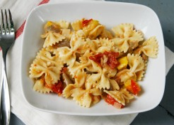 Pasta with Grilled Foil Packet Veggie Sauce Recipe