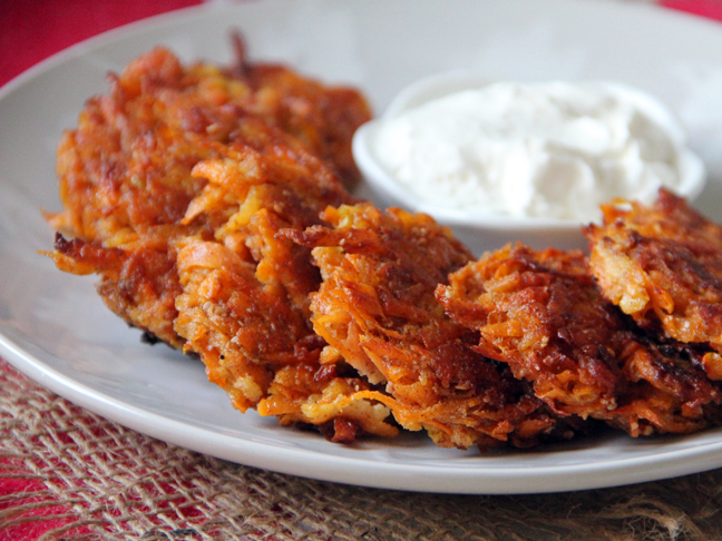 ... Sweet Potato + Apple Latkes are naturally sweet with a touch of spice