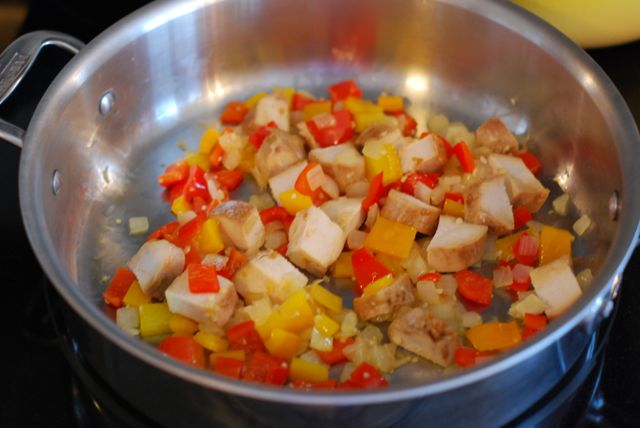 whole wheat pasta with vegetables and chicken recipe step 3