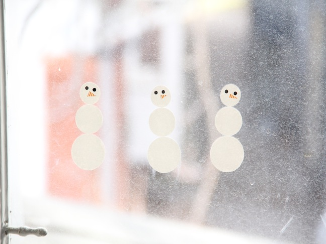 Snowmen Window Clings - Step 3