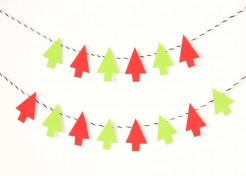 Paint Chip Tree Garland DIY