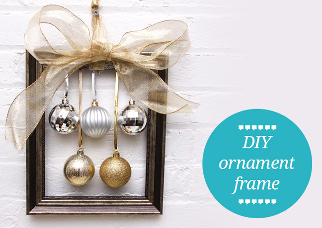 diy christmas ornament frame tutorial