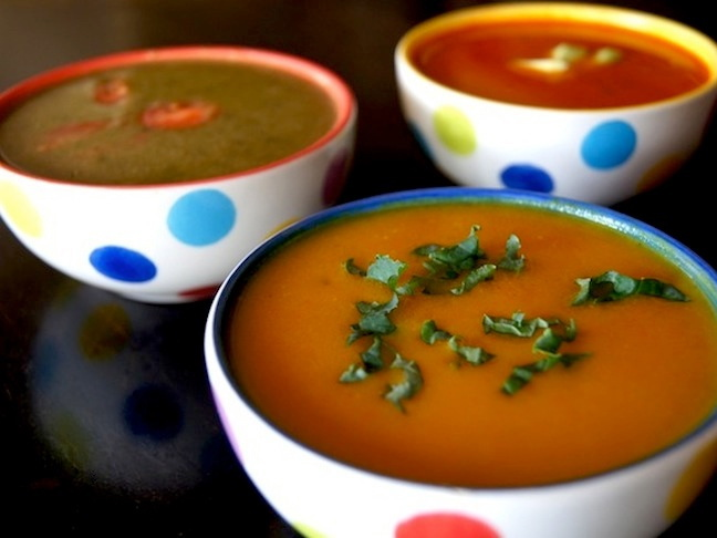 Three Quick and Easy Winter Vegetarian Soups-HERO SHOT