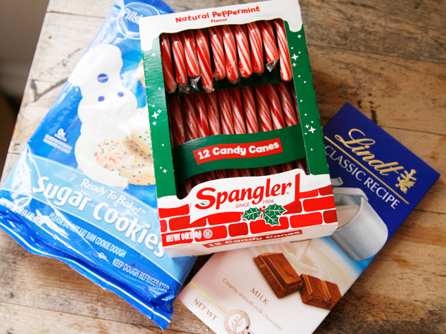 Ingredients for Chocolate Peppermint Sugar Cookies