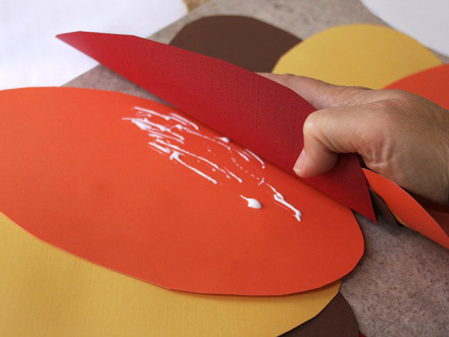 Turkey Paper Plate Craft - Step 5