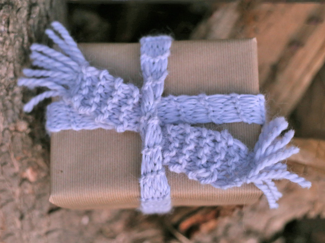 DIY Knit Scarf Ribbon