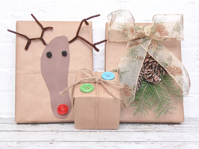Brown Paper Bag Gift Wrap Ideas And Tutorials For Christmas