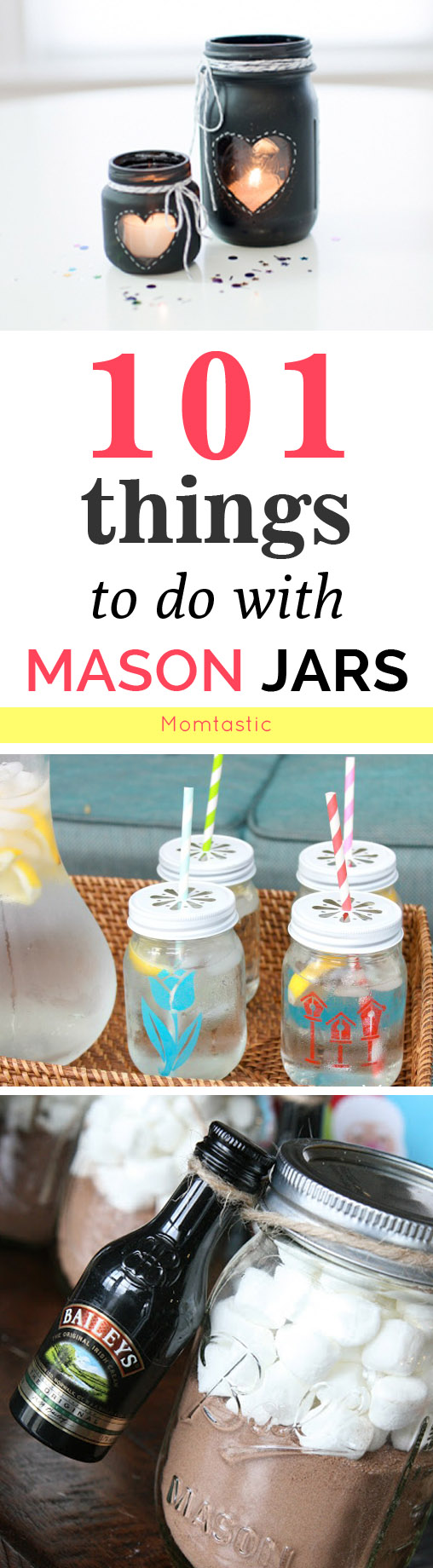 101 things to do with a mason jar crafts and diys for Cool things to do with mason jars