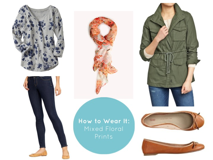 how to wear mixed floral prints