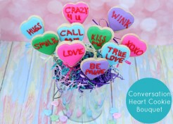 Conversation Heart Cookies Bouquet