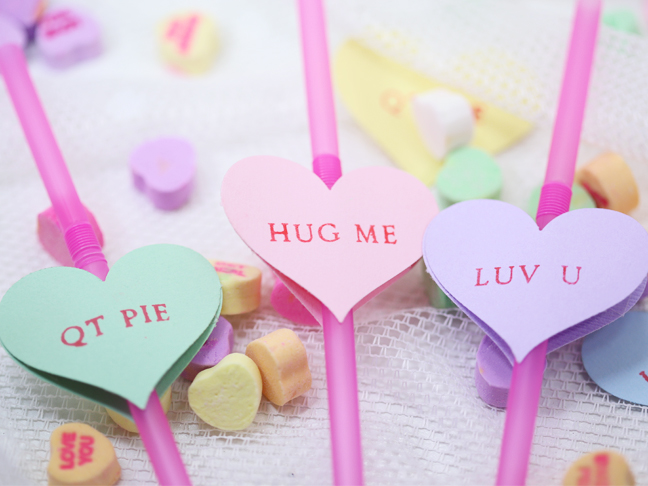 DIY Valentine's Day Straws