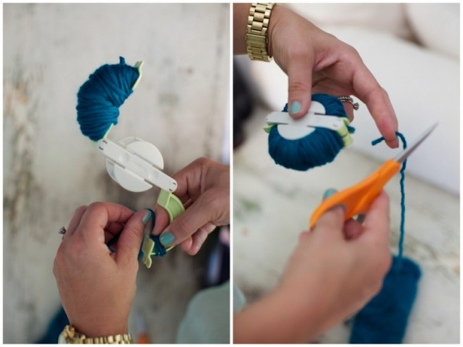 Pom wall art DIY | Chandra Fredrick for Momtastic