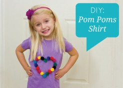 DIY Pom Poms Applique Shirt
