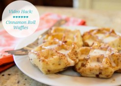 VIDEO: Food Hacks – How To Make Cinnamon Roll Waffles