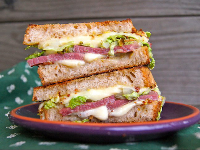 corned beef grilled cheese sandwich