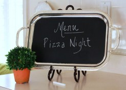 DIY: Kitchen Menu Chalkboard
