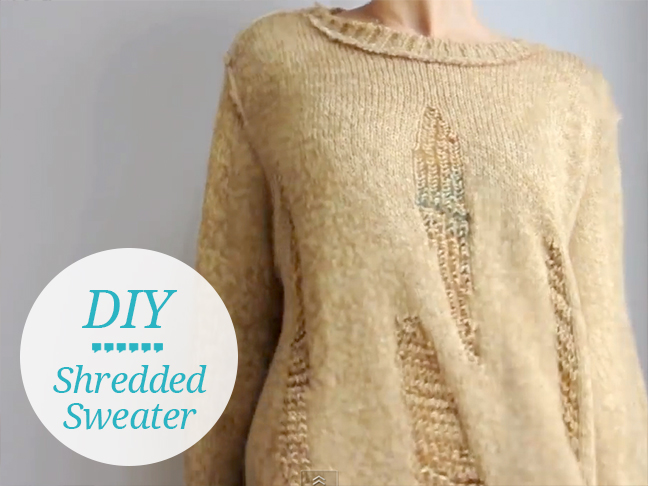 DIY-shredded-sweater