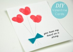 DIY: Thumbprint Heart on a String Valentine