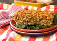 Gluten Free Baked Spinach-Chard Fusilli and Cheese Recipe