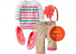 Baby Girl Style: Orange, Aqua, Pink, Magenta, and White