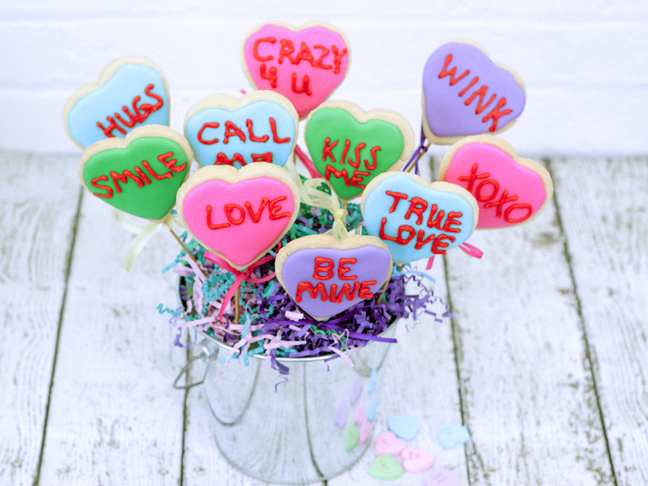 conversation-heart-cookie-bouquet-2