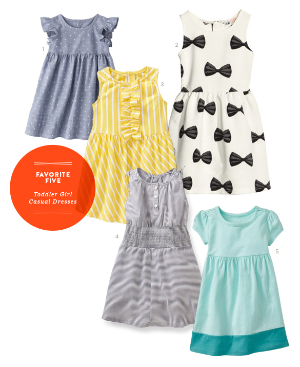 Favorite Five Casual Toddler Girl Dresses